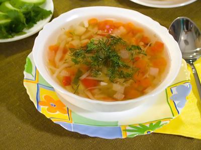 легкий овощного суп