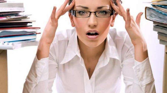 Женщина со стрессом