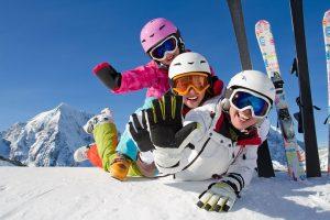 люди на сноуборде