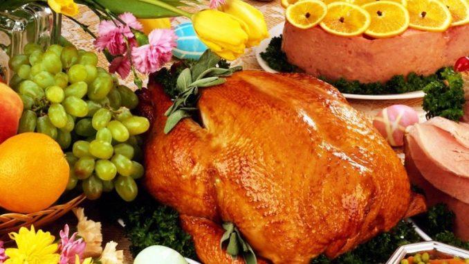 Жаренное мясо и цитрусовые