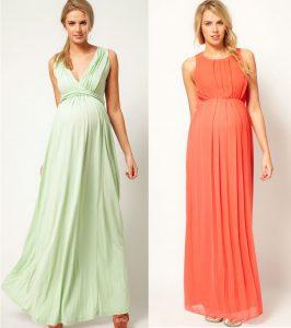 беременная в платье