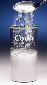 соду насыпают в стакан воды
